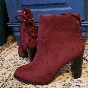Maroon Ankle Booties